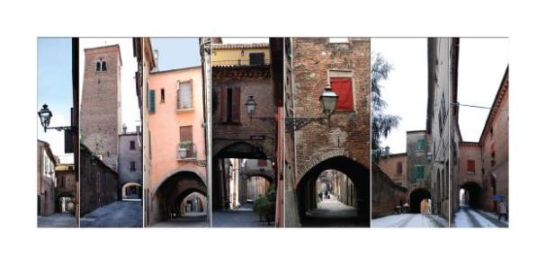 Cartolina- Ferrara Via delle Volte 2