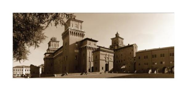Cartolina- Ferrara Castello Seppia