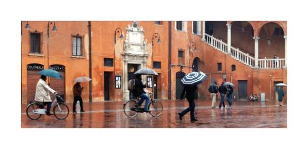 Cartolina- Ferrara Piazza Municipale