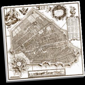 Ferrara, Mappa Carta del Bolzoni 50×50 cm