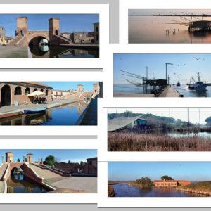 7 cartoline di Comacchio