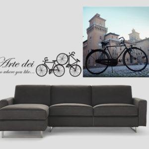 Ferrara, Castello estense con bicicletta