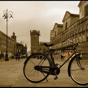 60×40 cm Piazza Trento e Trieste con Biga seppia.