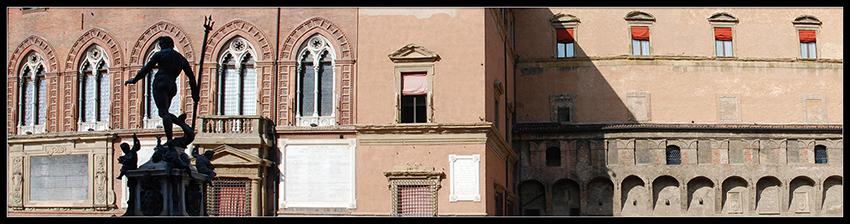 60×15 cm Bologna, panoramica con il Nettuno a colori