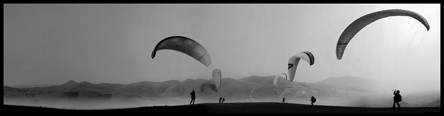 60×15 cm Parapendio a Forca di Presta bianco e nero.