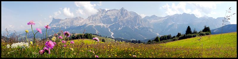 60×15 cm Veduta della Val Badia.