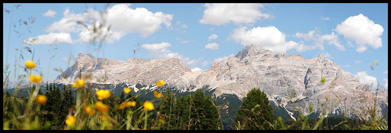 60×20 cm Veduta della Val Badia.