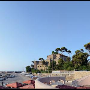 70×30 cm Tramonto sul Tirreno a Santa Marinella.