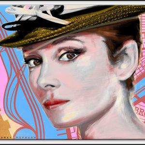 70×50 cm Audrey Hepburn