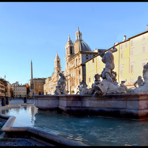 70×35 cm Piazza Navona