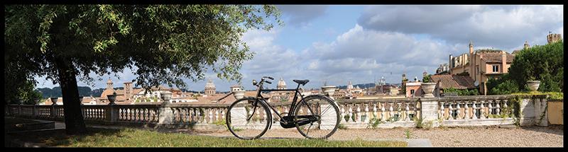 60×15 cm Belvedere con bicicletta