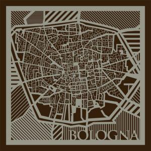 Mappa di Bologna del 1700.
