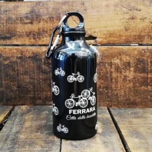 Borraccia 400 ml in alluminio, colore nero