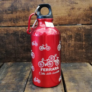 Borraccia 400 ml in alluminio, colore rosso