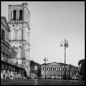 25×25 cm Scorcio di Piazza Trento e Trieste.