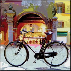 25×25 cm Bicicletta pop.