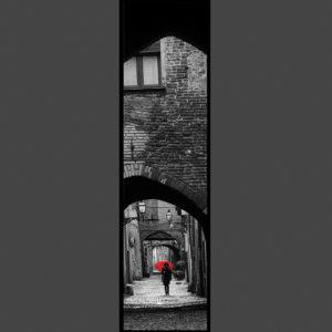 15×60 cm Ombrello rosso a via delle Volte.