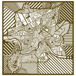 Mappa di Roma del 1700.